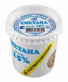 Сметана РостАгроЭкспорт 15% 250г