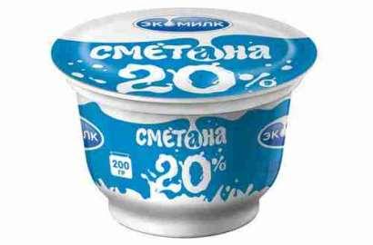 Сметана Экомилк 20% 200г