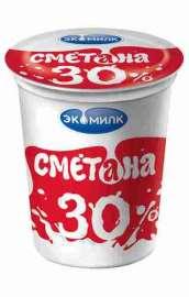 Сметана Экомилк 30% 400г