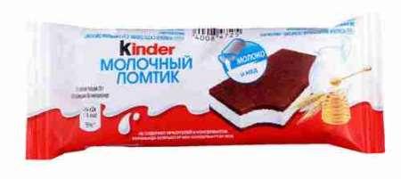 Пирожное бисквитное Kinder Молочный ломтик 28г