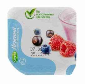 Продукт йогуртный пастеризованный Нежный 1,2% с соком лесных ягод 100г