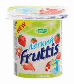 Продукт йогуртный Fruttis легкий клубника 0,1% 110г
