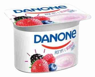 Йогурт Danone лесные ягоды 2,9% 110г
