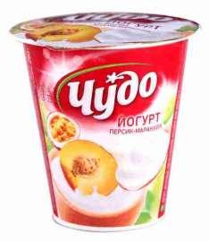 Йогурт Чудо фруктовый Персик-Маракуя 2,5% 290г
