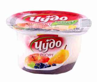 Йогурт Чудо Садовые фрукты с яблоко/груша/смородина 2,5% 125г