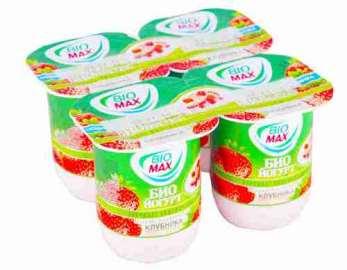 Йогурт вязкий Bio-Max клубника 2,6% 125г