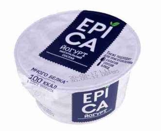 Йогурт Epica 130г натуральный 6%