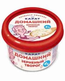 Творог зернен 4% Сыр Домашний 200г стакан