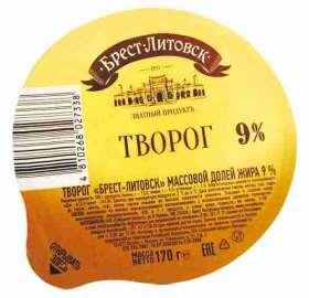 Творог Брест-Литовск 9% 170г