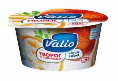 Мягкий творог Valio с персиком 3,5% 140г