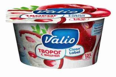 Мягкий творог Valio с вишней 3,5% 140г