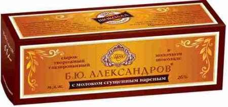 Сырок глазир Б.Ю.Александров сгущенка в мол шок 50г