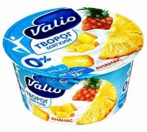 Творог Valio с ананасом 0% 140г