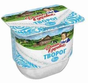 Творог мягкий Домик в деревне 0,1% 200г пл/б