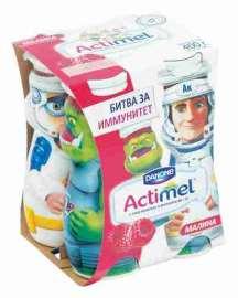 Продукт к/м Actimel Kids малина 2,5% 100г