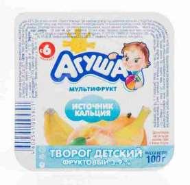 Творог Агуша фруктовый мультифрукт 3,9% 100г