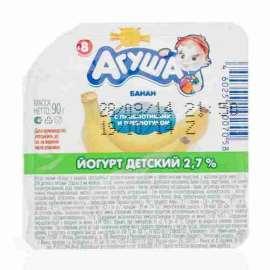 Йогурт Агуша вязкий банан 2,7% 90г