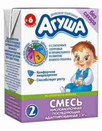 Смесь молочная стерил Агуша-2 с пребиотиком с 6мес 3,1% 200м