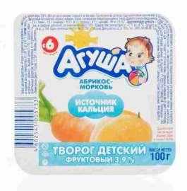 Творог Агуша фруктовый абрикос/морковь 3,9% 100г