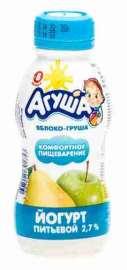 Йогурт питьевой Агуша яблоко/груша 2,7% 200г
