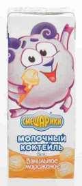 Коктейль молочный утп Смешарики ванильное мороженое 2,5% 210г тва
