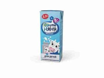 Молоко ФрутоНяня стерилизованное 2,5% % 200мл
