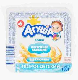 Творог Агуша фруктовый злаки 3,9% 100г