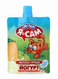 Йогурт Агуша Я Сам яблоко/груша 2,7% 85г дой-пак