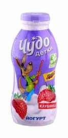 Йогурт питьевой Чудо Детки клубника 2,2% 200г