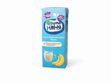 Коктейль молочный Фрутоняня банан 2,1% 200г