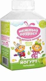 Йогурт питьевой Нежный возраст яблоко/груша 1,5% 200г