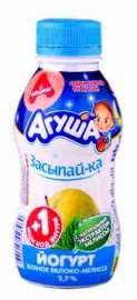 Йогурт питьевой Агуша Засыпай-ка Яблоко зеленое-Мелисса 2,7% 200г