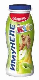 Напиток кисломолочный Neo Имунеле for Kids  яблоко/банан 1,5% 100г