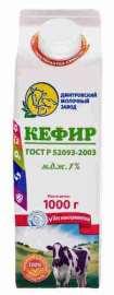 Кефир Дмитровский 1% 1кг п/п