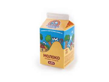 """Молоко топлёное """"Деревенское молочко"""" 4,0% 500мл."""