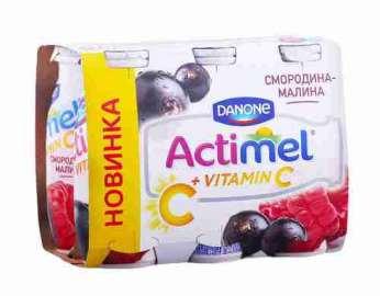 Продукт к/мол Danone Actimel смородина/малина 2,5% 100г