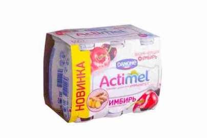 Продукт к/мол Danone Actimel вишня/черешня с имбирем 2,5% 100г