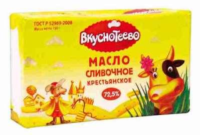 Масло Вкуснотеево Крестьянское 72,5% 180г