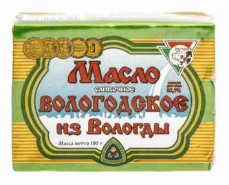 Масло сливочное Из Вологды 82,5% 180г