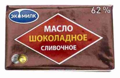 Масло сливочное Экомилк шоколадное 62% 180г фольга