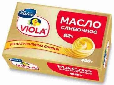 Масло сливочное Viola 82% 400г