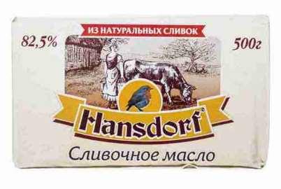 Масло сладкосливочное Hansdorf 82,5% 400г