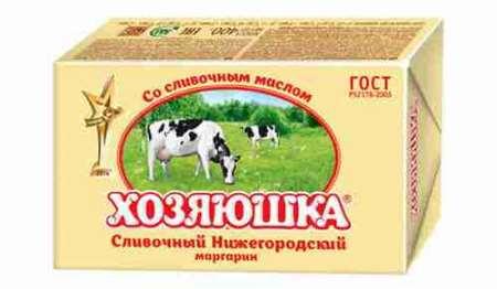 Маргарин Хозяюшка сливочный 60%, 400г