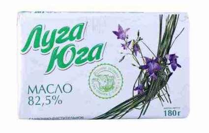 Масло растительно-сливочное Луга Юга 82,5% 180г