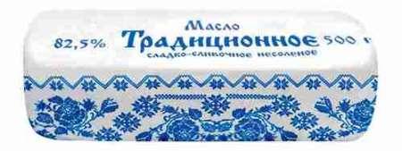 Масло сладко-сливочное Лав продукт Традиционное 82,5% 500г пергамент